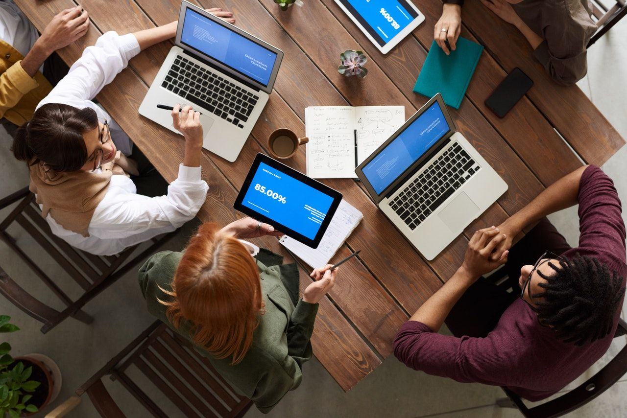 tablets in the boardroom